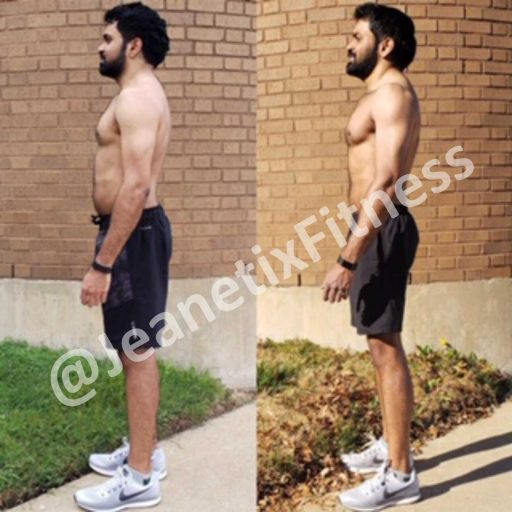 Before and after picture Jeanetix Fitness Gym in Richardson