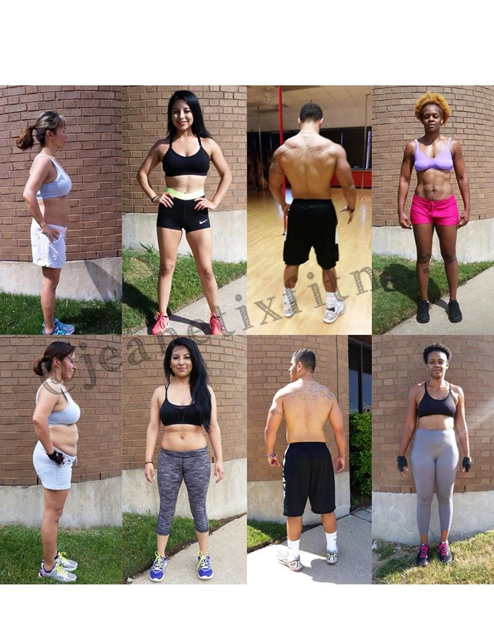 transformational pictures from Jeanetix Fitness Gym in Richardson TX
